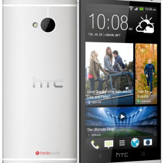 HTC One M7 32gb SIGILAT garantie 24 luni - Telefon mobil HTC One, Argintiu, Neblocat, Single SIM
