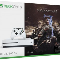 Consola Microsoft Xbox One S 500GB + Shadow of War (Alba)