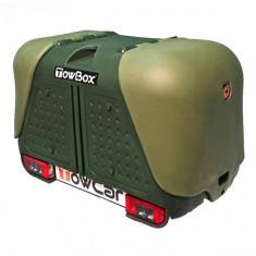Cutie Portbagaj pe carligul de remorcare Aragon Towbox V2 DOG Verde