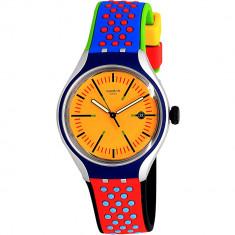 Ceas Swatch barbatesc Amarelho YES4015 galben Rubber Swiss Quartz Fashion