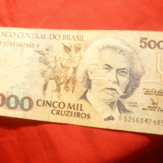 Bancnota 5000 cr. Brazilia, cal. Buna - bancnota america