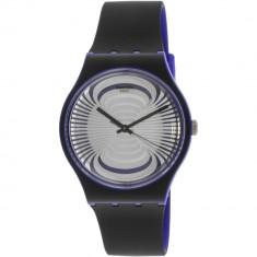 Ceas barbatesc Swatch Microsillon negru Silicone Swiss Quartz SUON124