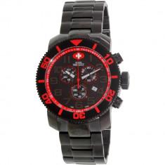 Ceas Swiss Precimax barbatesc Verto Pro SP13035 negru Stainless-Steel Swiss Chronograph