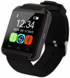 Smartwatch E-Boda Smart Time 100, Procesor Single-Core 360 MHz, Ecran LCD 1.44inch, 32MB RAM, Curea Silicon (Negru), E-boda