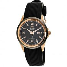 Ceas Orient dama FNR1V001B negru Rubber Quartz Fashion - Ceas dama