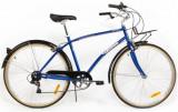 Bicicleta Pegas Popular, Cadru 19inch, Roti 28inch, 7 viteze (Albastru)
