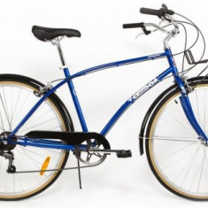 Bicicleta Pegas Popular, Cadru 19inch, Roti 28inch, 7 viteze (Albastru) - Bicicleta de oras