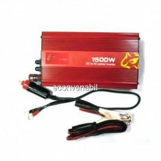 Invertor Auto 12V la 220V USB 1500W constant. max 875W Pililong