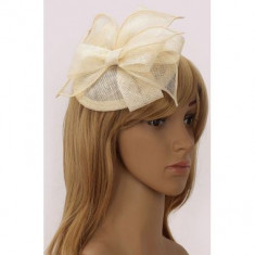 Ivory Mesh Hat Feather Fascinator - LSH00206