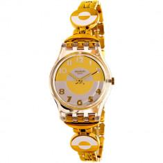 Ceas Swatch dama Originals LK369G auriu Stainless-Steel Swiss Quartz