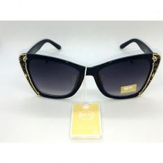 Ochelari de soare UV400 MIK 4, Culoare lentila: Argintiu, Negru, Material rama: Plastic, Femei, Protectie UV 100%