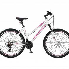 "Bicicleta MTB UMIT Mirage V Lady , culoare alb/roz , roata 24"" , aluminiu , cadrPB Cod:2466014000, 14, 21"