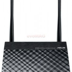 Router Wireless ASUS RT-N12 D1, 3 in 1 Router, Access Point, Range Extender, 300Mbps, 2.4GHz, 2 Antene externe 5dBi (Negru)