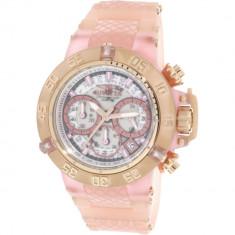 Ceas dama Invicta Subaqua roz Silicone Japanese Chronograph 24383