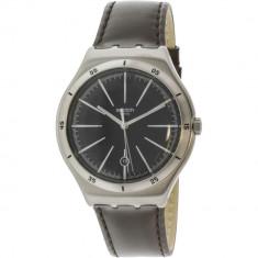 Ceas barbatesc Swatch Lonely Vintage argintiu Leather Swiss Quartz YWS409C