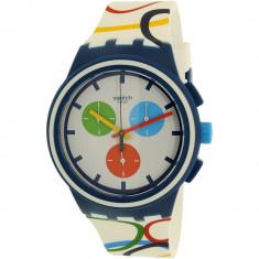 Ceas Swatch barbatesc Originals SUSN100 multicolor Silicone Quartz