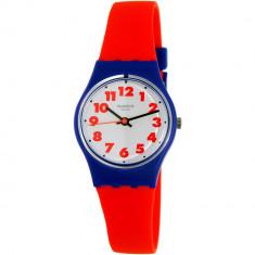 Ceas Swatch dama Originals LS116 rosu Rubber Swiss Quartz