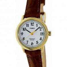 Ceas dama Timex Easy Reader T2J761 maro Analog Quartz T2J761