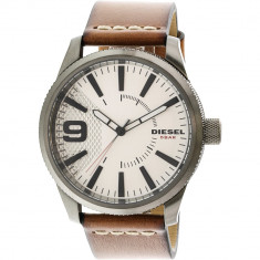 Ceas barbatesc Diesel Rasp argintiu Leather Japanese Quartz DZ1803