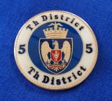 Medalie stema Romania - Bucuresti - Sectorul 5