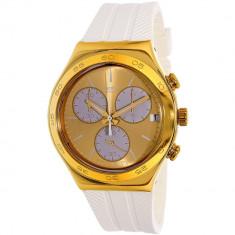 Ceas Swatch dama Irony YCG415 alb Rubber Swiss Quartz