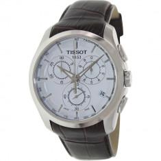 Ceas barbatesc Tissot Couturier argintiu Alligator Leather Swiss Quartz T035.617.16.031.00