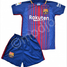 Compleu Echipament Fotbal FC BARCELONA MESSI MODEL 2018 copii 5 la 15 ani, Marime: YXXL, YXL, YL, YM, YXS, Set echipament fotbal
