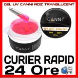 GEL UV ROZ TRANSLUCENT CANNI 15ML - CONSTRUCTIE MANICHIURA, UNGHII FALSE GEL