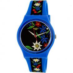 Ceas Swatch dama Edelblau GN412 albastru Rubber Swiss Quartz - Ceas dama