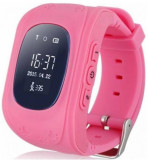 Smartwatch Cronos Kids Q50, OLED Capacitive touchscreen 0.96inch, Bluetooth, Bratara silicon, 2G, Functie telefon, Dedicat pentru copii (Roz)