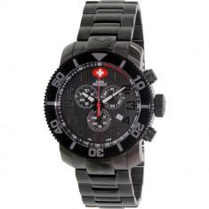 Ceas Swiss Precimax barbatesc Verto Pro SP13033 negru Stainless-Steel Swiss Chronograph