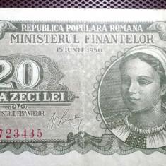 Romania 20 lei 1950 - Bancnota romaneasca