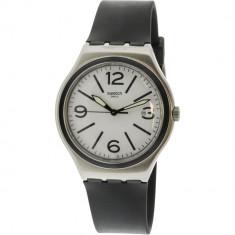 Ceas barbatesc Swatch Noir Du Soir argintiu Rubber Swiss Quartz YWS424