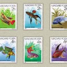 Ungaria 1987 - pesti de acvariu, serie neuzata