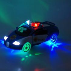 Masina de politie de jucarie cu sunete specifice si lumini 3D, o jucarie foarte, foarte distractiva! - Vehicul