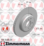 Disc frana ZIMMERMANN 150.3480.20