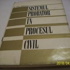 Sistemul probator in procesul civil-autor dr.emil mihuleac , an 1979