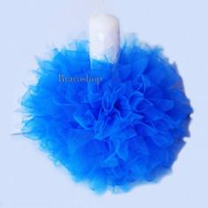 Lumanare botez baieti - model albastru - Lumanari botez