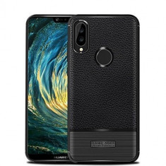 Husa Huawei P20 Lite Tpu Grain - Husa Telefon Huawei, Negru, Gel TPU, Carcasa
