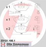 Set placute frana ZIMMERMANN 23131.195.1