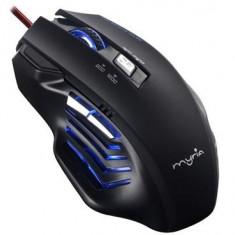 Mouse Gaming Myria Mg7501 2400 Dpi Negru, USB, Optica, Peste 2000