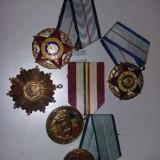5 Medalii,Decoratie,medalie meritul militar,colectie ordinul militar,Tp.GRATUIT