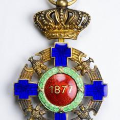 Ordinul / Decoratia Steaua Romaniei tip2, Ofiter, Civil, Argint, Resch