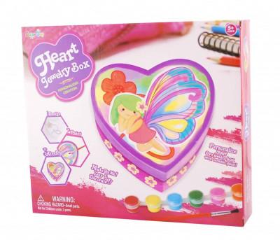 Cutie de pictat pentru bijuterii model inimioara - jucarii pentru fetite foto