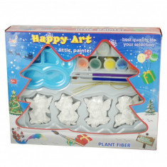 Ingerasi pentru pictat si agatat in brad - Jucarie cu figurine si acuarele - Jocuri arta si creatie