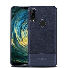 Husa Huawei P20 Lite Tpu Grain - Husa Telefon Huawei, Albastru, Gel TPU, Carcasa