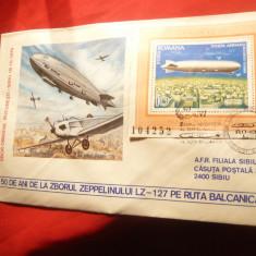 Plic special Expozitia Aeromfila '79 - 50 Ani de la Zborul Zepelinului LZ 127