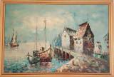 REDUCERE: Tablou original W.Jones semnat, Marine, Ulei, Realism
