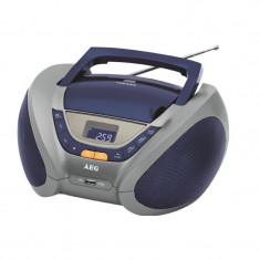 Radio casetofon cu cd, AEG SR 4358 , Blue