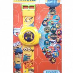 Ceas pentru copii cu proiectie de lumini si eroi din desenele animate MINION - Ceas copii